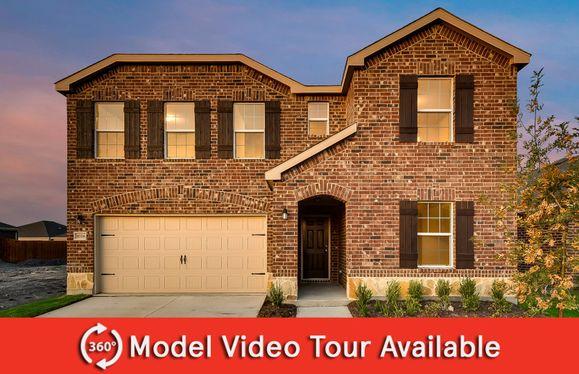 Thomaston:The Thomaston, a two-story home with 2-car garage, shown with Home Exterior E