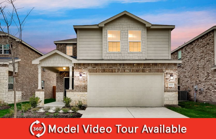 Springfield:The Springfield, a 2-story new construction home showing Home Exterior Y