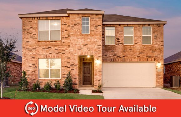 La Salle:The La Salle, a 2-story new construction home, shown with Home Exterior D