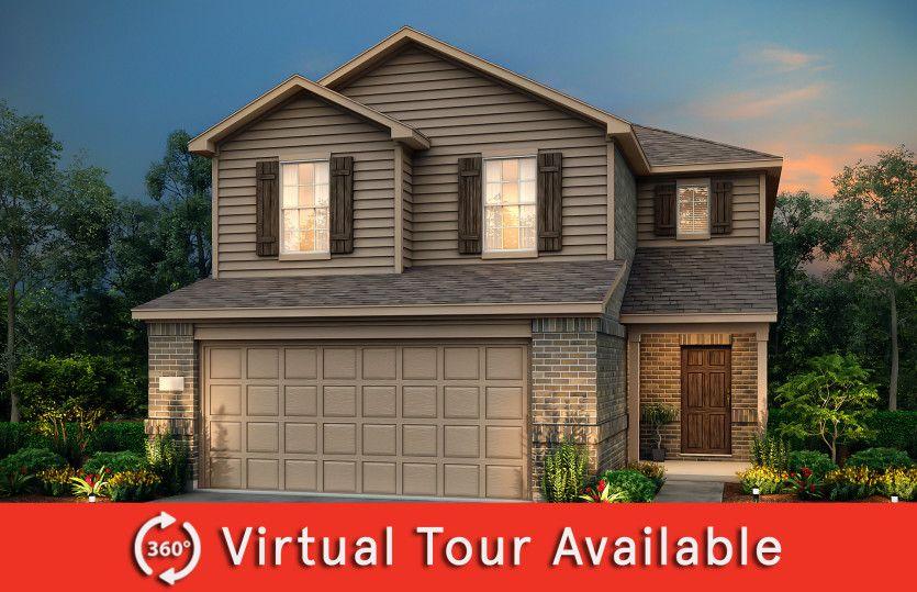 Camelia:The Camelia, a 2-story new construction home showing Home Exterior H