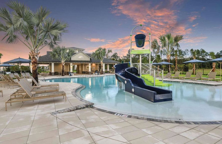 Resort-Style Pool with Slide