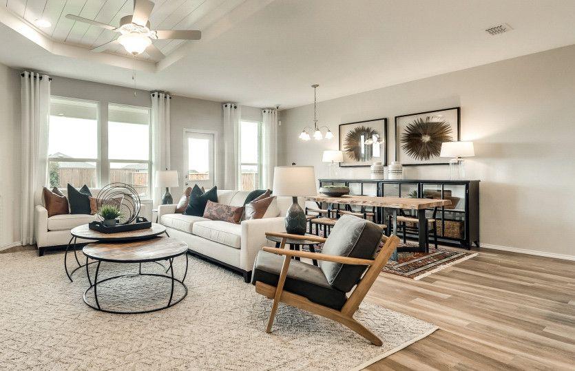 Thomaston:Gathering room with optional fireplace
