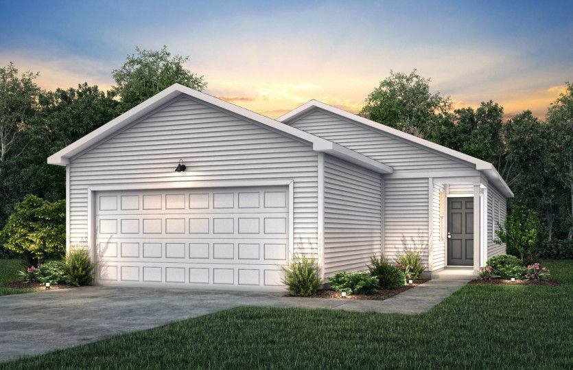 Goldcrest:Goldcrest Exterior TD101 features siding, covered front door and 2 car garage