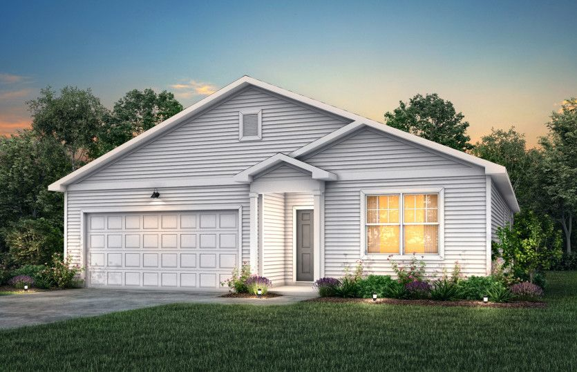 Ibis:Ibis Exterior TD101 features siding, covered front door and 2 car garage