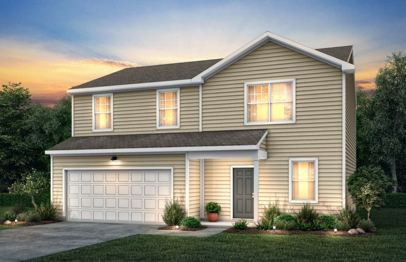Osprey:Osprey Exterior TD101 features siding, covered front door and 2 car garage