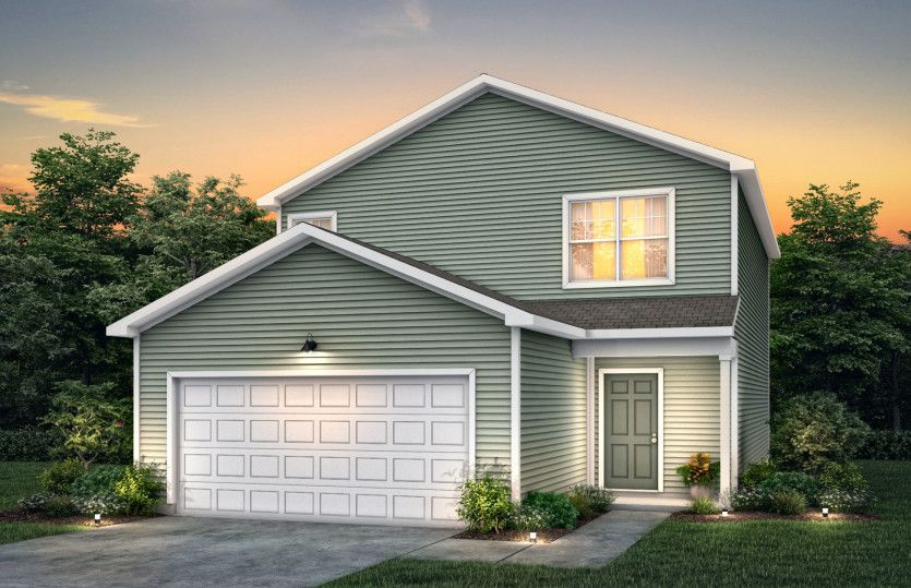 Raven:Raven Exterior TD101 features siding, covered front door and 2 car garage