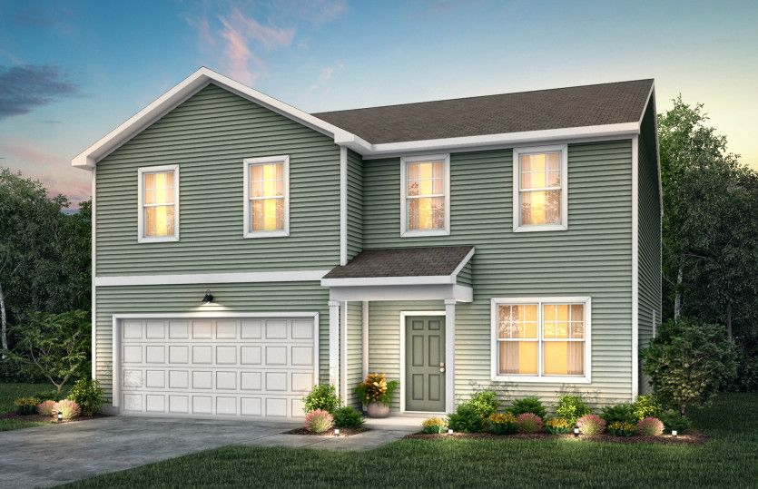 Whimbrel:Whimbrel Exterior TD101 features siding, covered front door and 2 car garage
