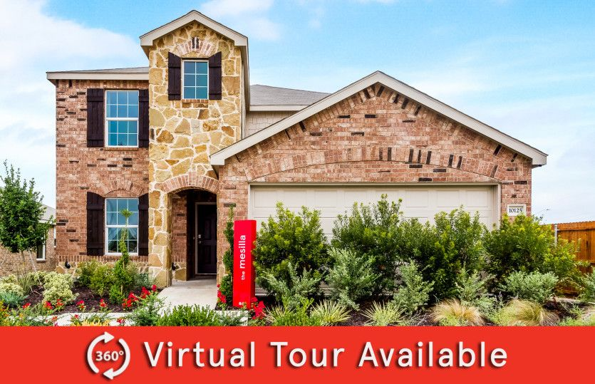 Mesilla:The Mesilla, a two-story home with 2-car garage, shown with Home Exterior R