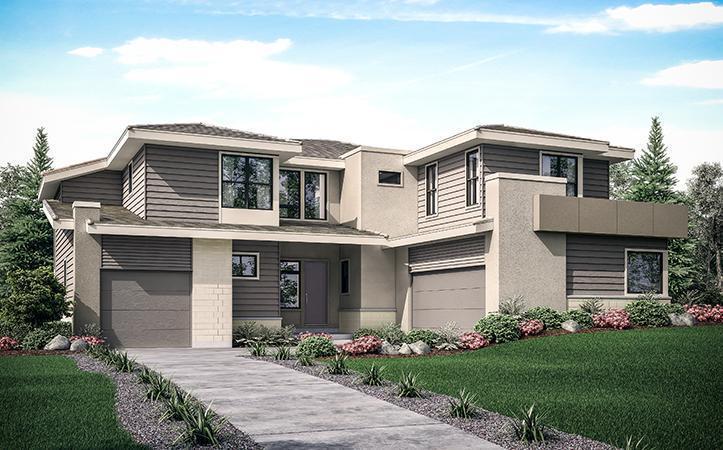Exterior Rendering o:Contemporary Prairie