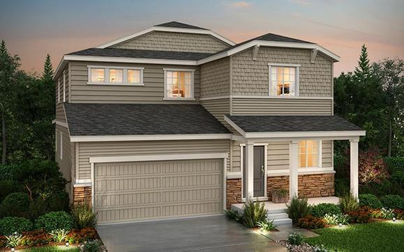 Exterior Rendering of Residence 34205 Elevation B at Anthology in Parker Colorado by Century Communi:Anthology - Residence 34205 - B