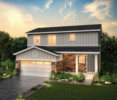 Rendering of 36203 Elevation B at Homestead Crystal Valley in Castle rock by Century communities:36203 Elevation B