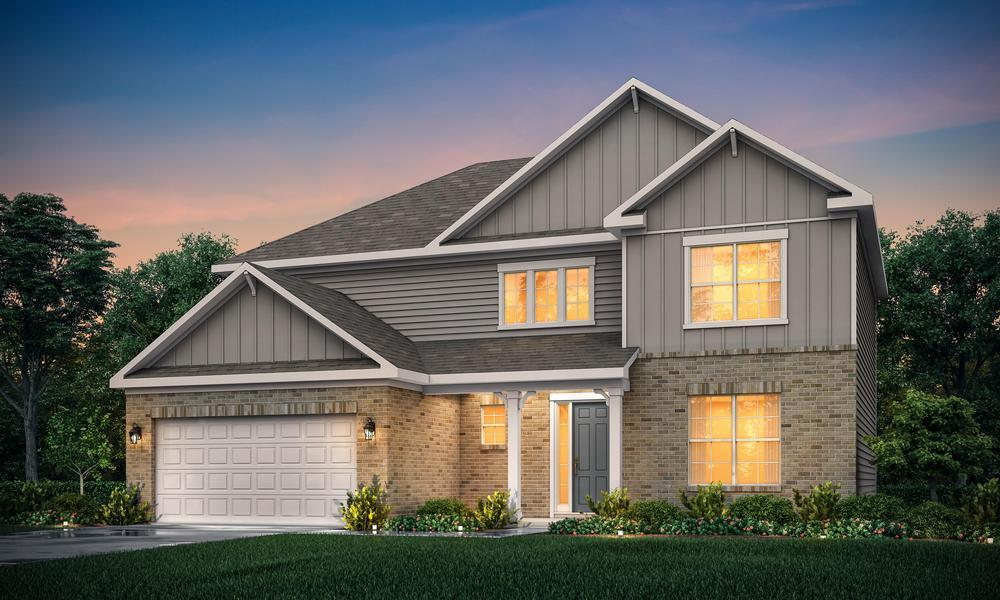 2 story home with 3-