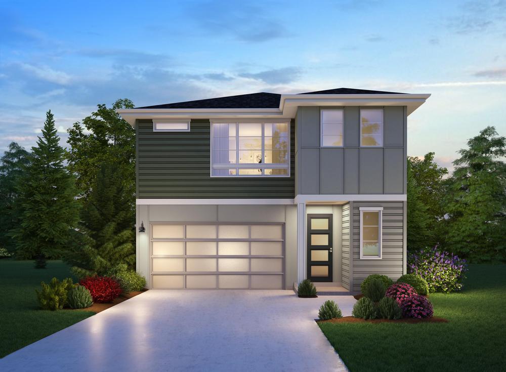 The Xander Elevation:The Xander Elevation B in Roycroft Shade exterior color scheme