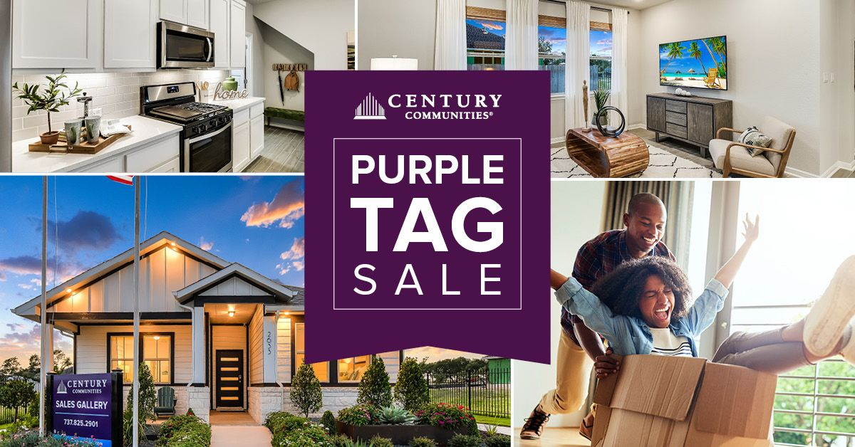 Ask about our Purple Tag Sale in Deerbrooke, Leander TX by Century Communities