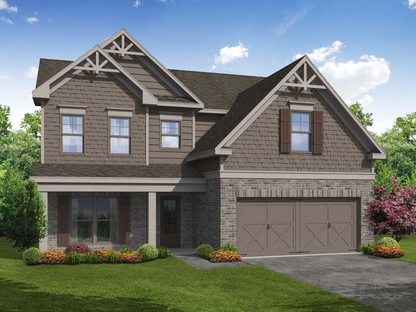 Arlington II by Chafin Communities:Elevation C with Optional Stone