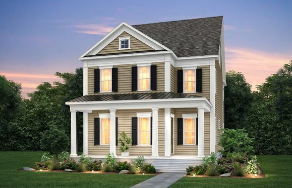Randall:Randall Exterior 16 features Hardi Board Siding and Covered Front Rocking Chair Porch