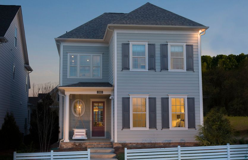 Roanoke:Roanoke Exterior 2 features Hardi Board Siding and Covered Front Door