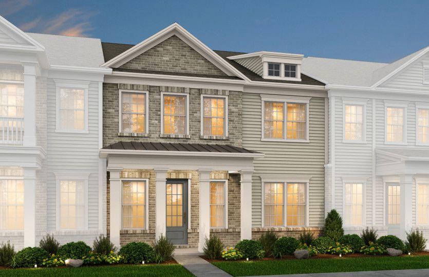Hayden:Hayden Exterior 4 features Brick, Hardi Board siding, covered front porch and rear 2 car garage