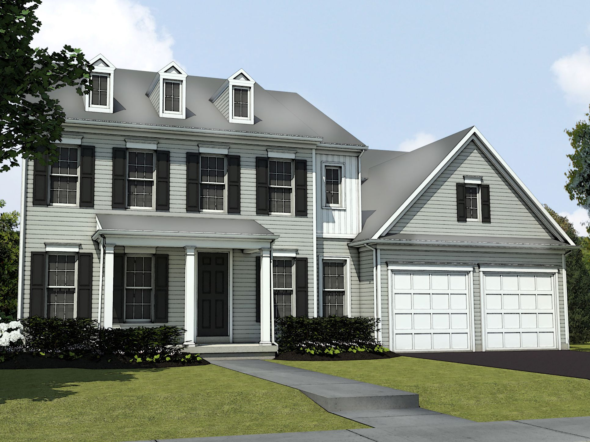 The Mayfair:Classic Elevation Rendering