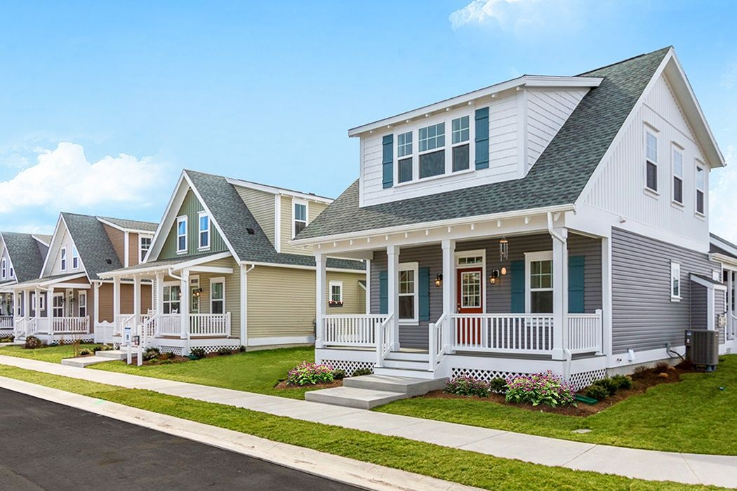 NEW cottage streetscape exterior