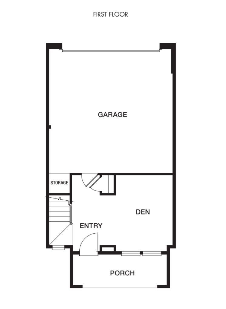 Plan 1- Classics at MonteVista:First Floor