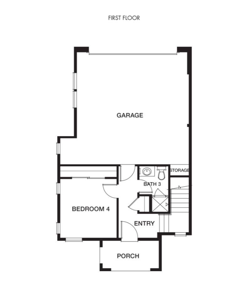 Plan 2- Classics at MonteVista:First Floor