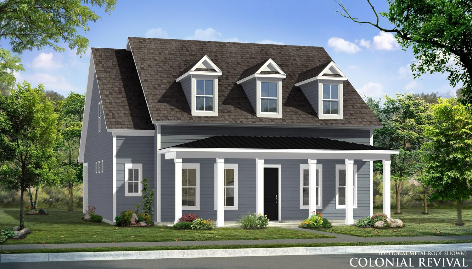 Elevation 2:Colonial Revival