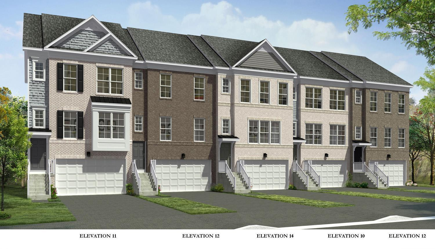 Westbury II:Elevations 11,12, 10, 14