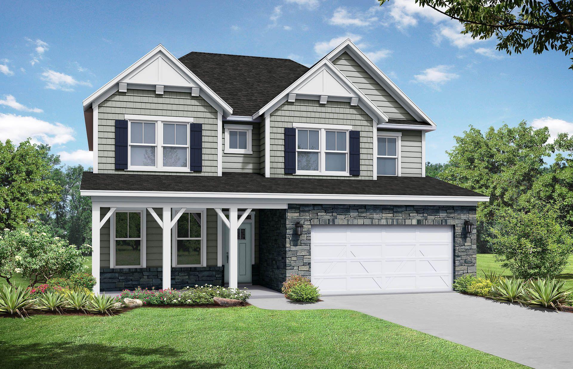 Davidson Homes The Willow D Floor Plan Exterior Rendering