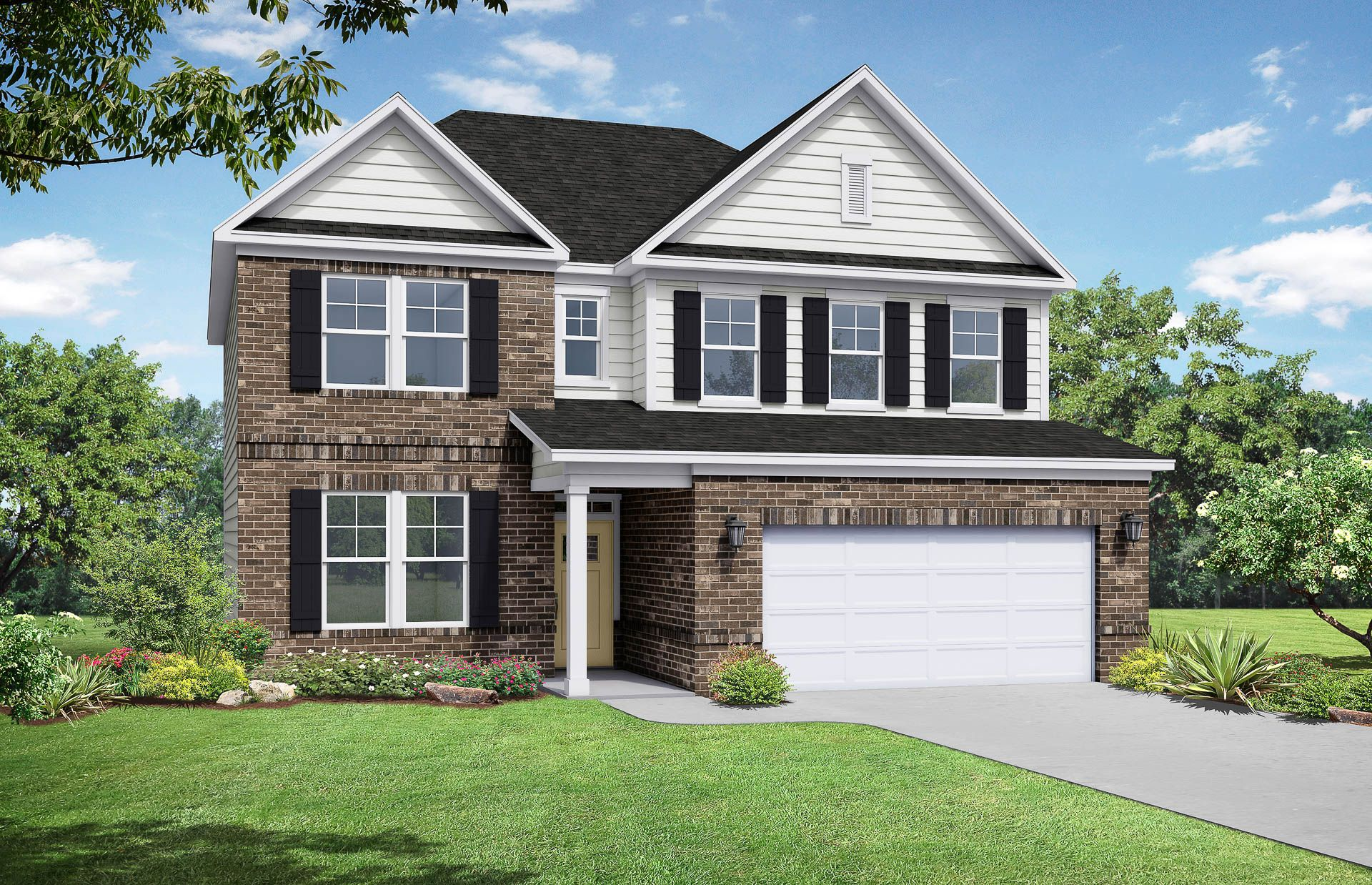 Davidson Homes The Willow C Floor Plan Exterior Rendering