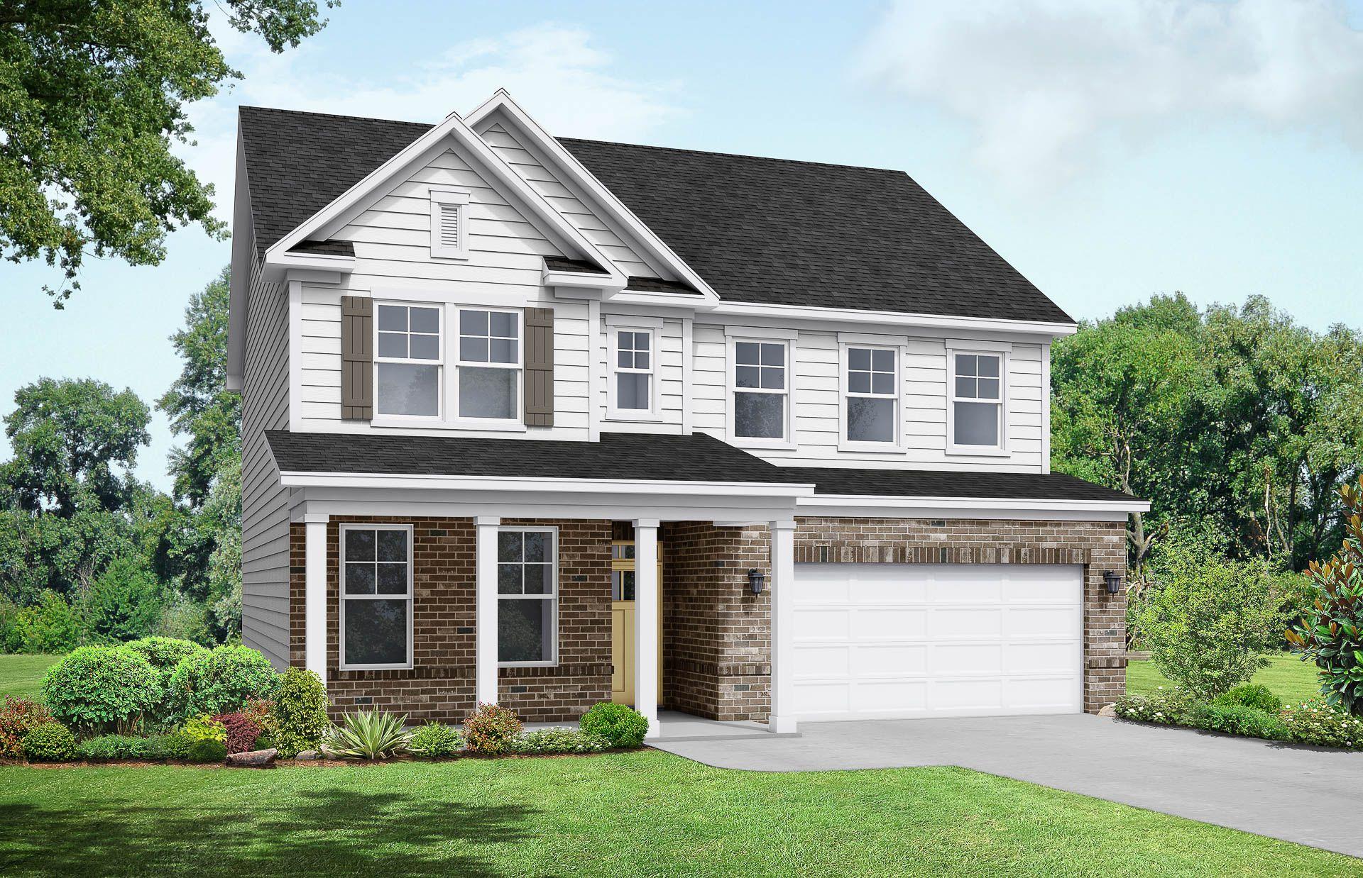 Davidson Homes The Chestnut C Floor Plan Exterior Rendering