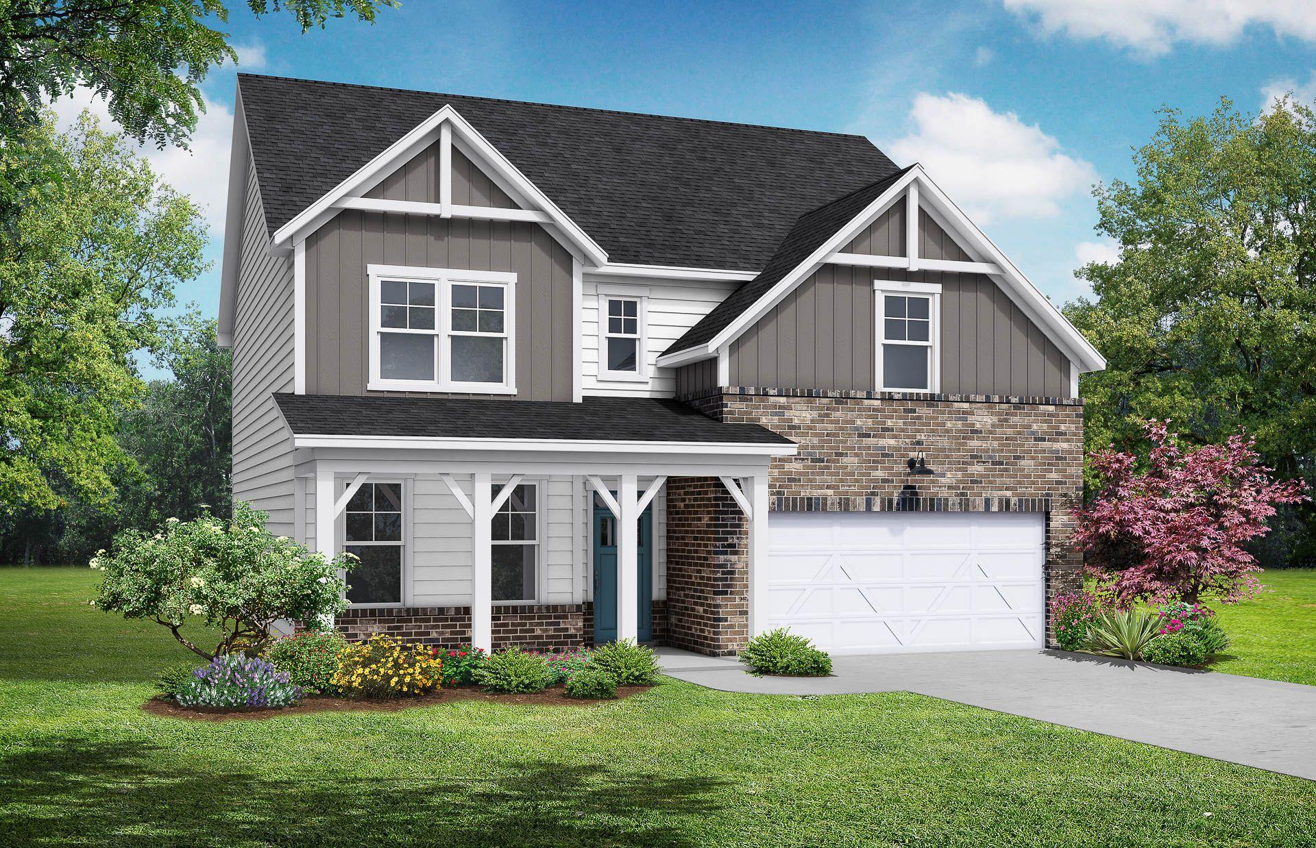 Davidson Homes The Hemlock B Floor Plan Exterior Rendering