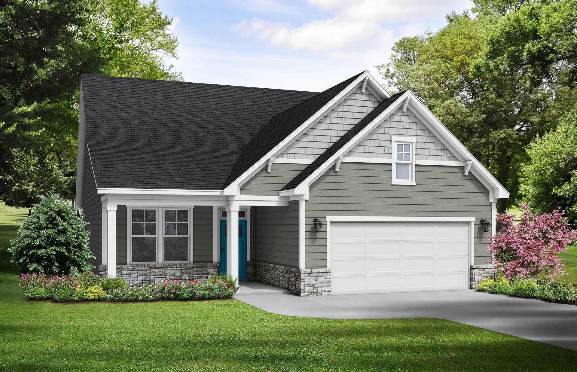 Davidson Homes The Maple Floor Plan Exterior Rendering