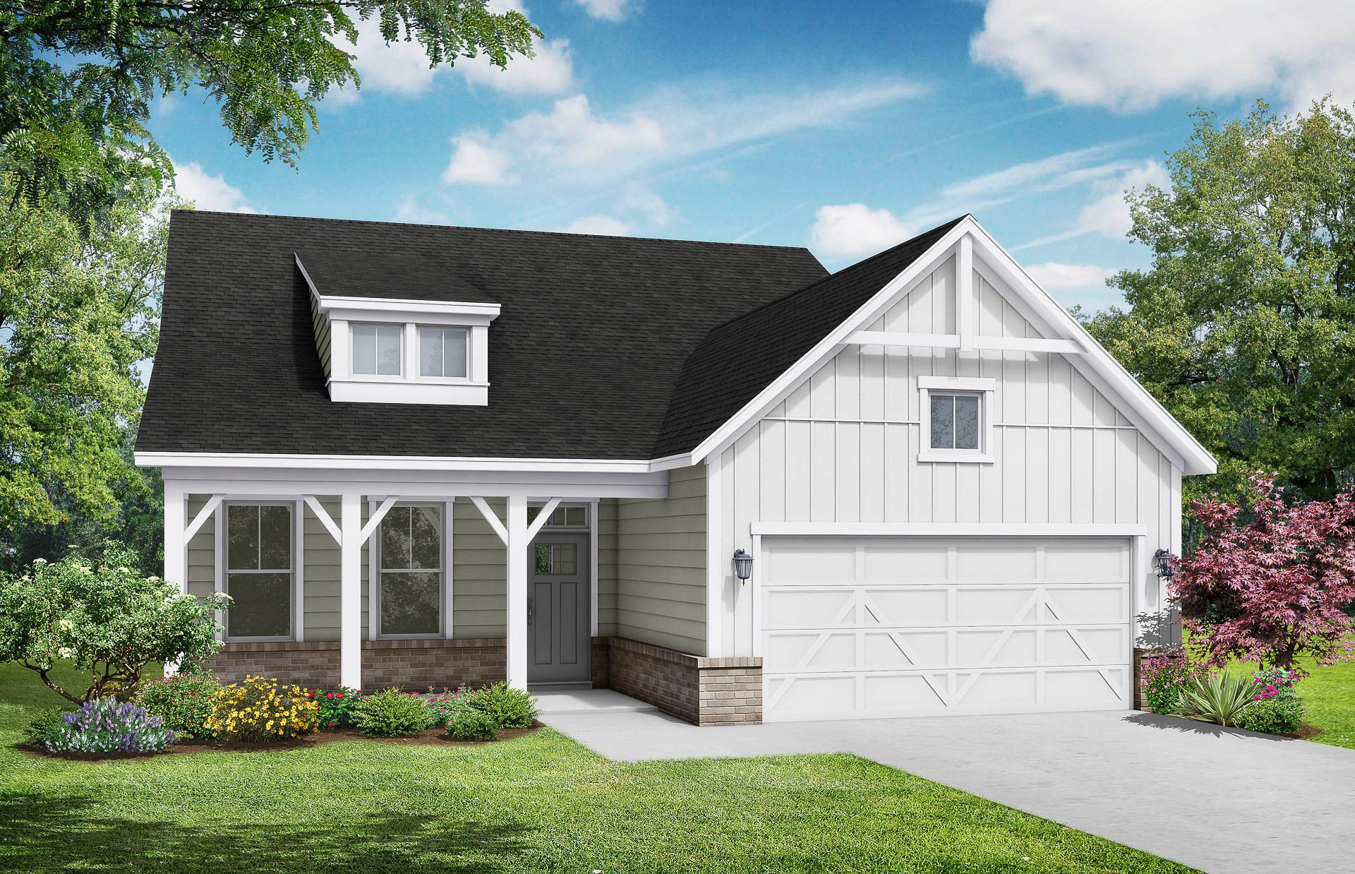 Davidson HomesThe Birch B Floor Plan Exterior Rendering