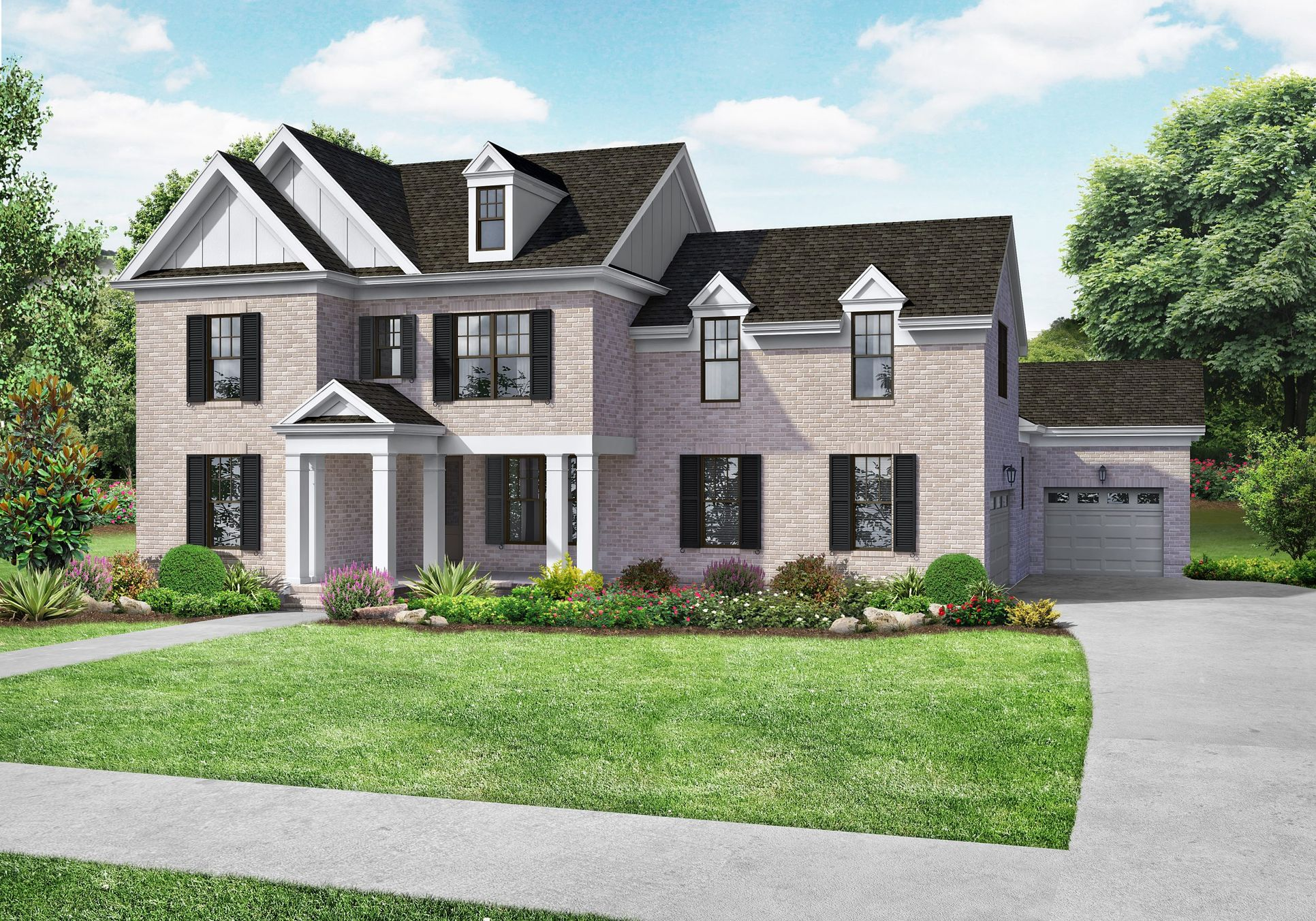 Davidson Homes The Hathaway Plan Exterior Rendering