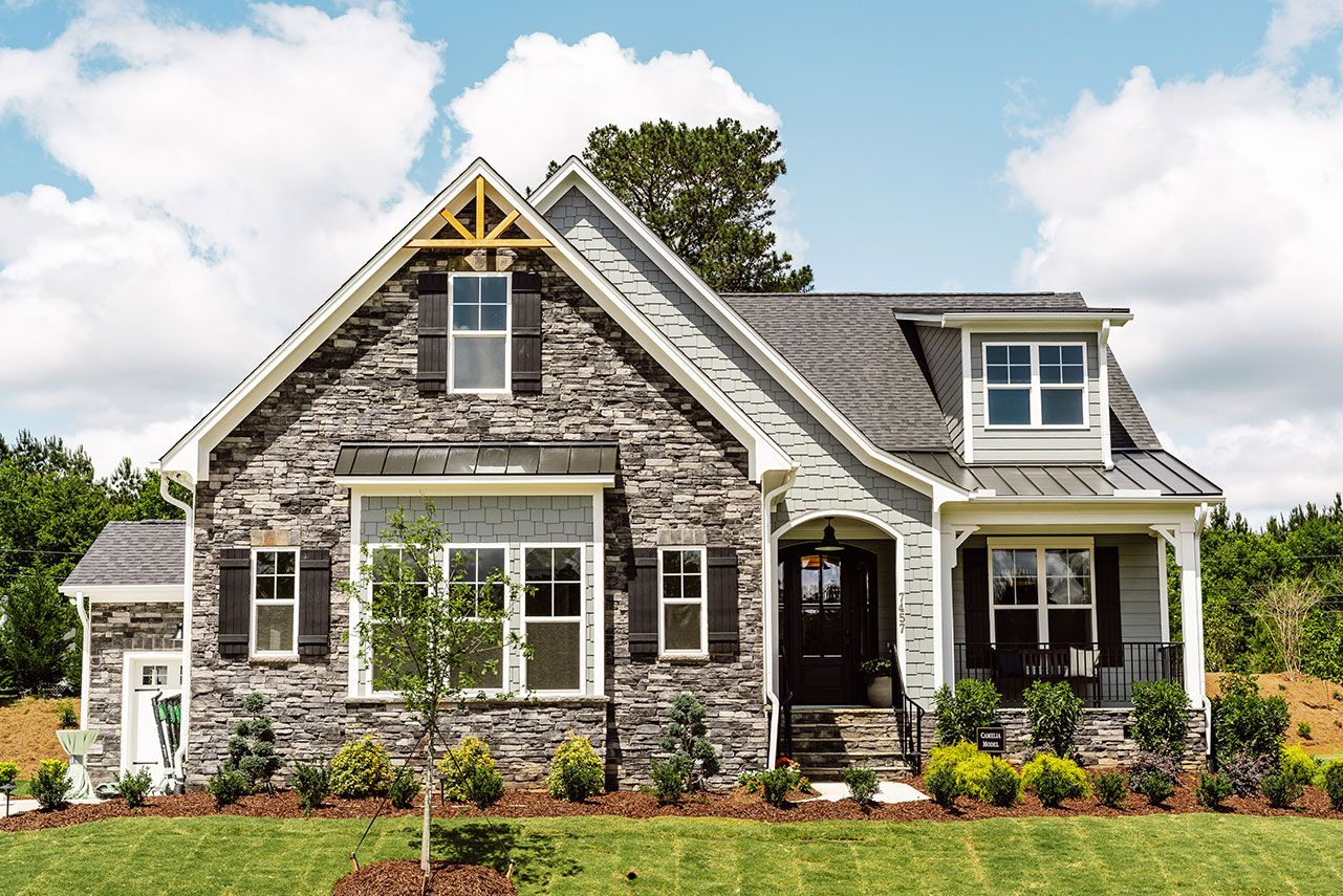 Davidson Homes Model Home in Hasentree in Wake Forest, NC