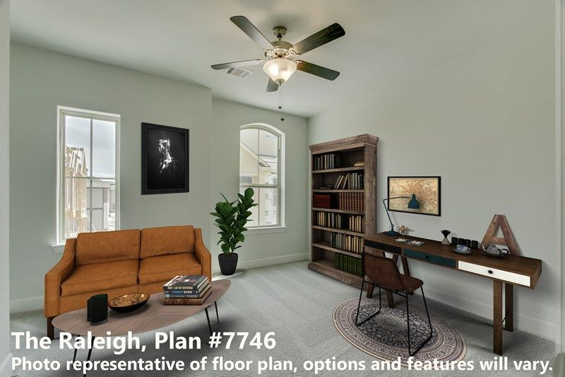 Interior:The Raleigh - Study