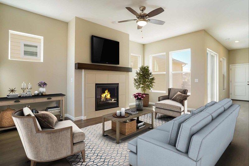 Interior:The Averett - Family Room