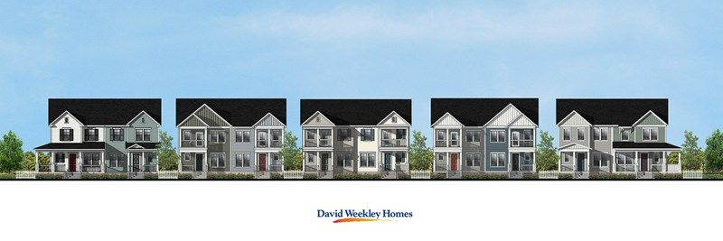 Daniel Island Paired Homes Streetscape