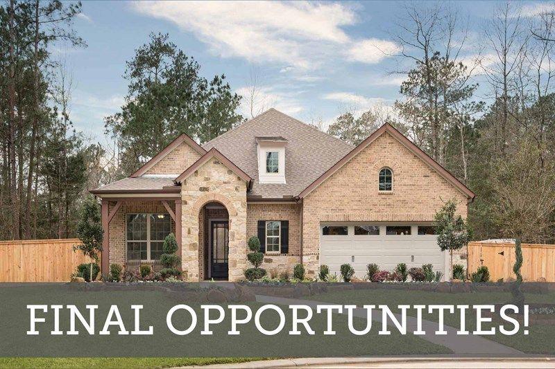 The Woodlands Hills 55' - Final Opportunities