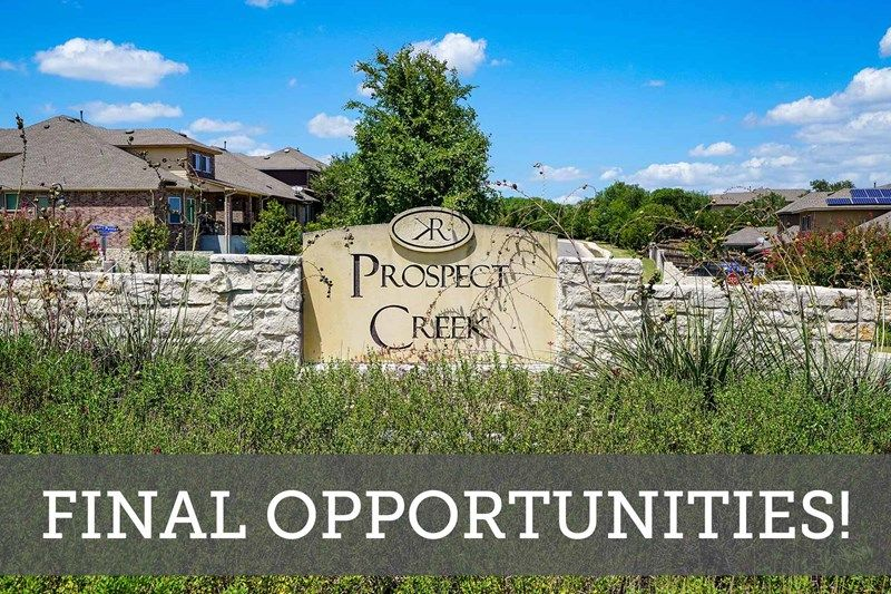 Prospect Creek at Kinder Ranch - Final Opportunities