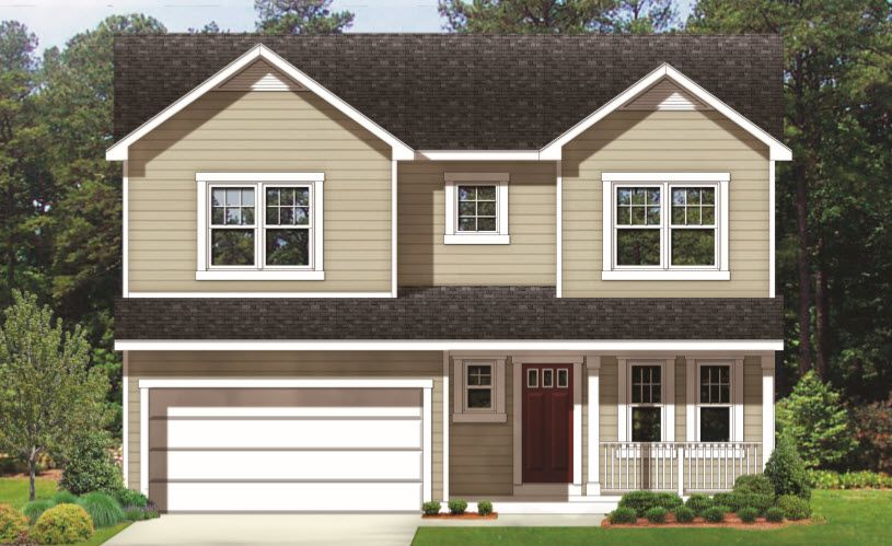 Colonial with Front Load Garage