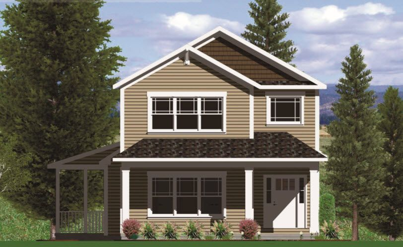 Two Story with First Floor Master and Rear Load Garage