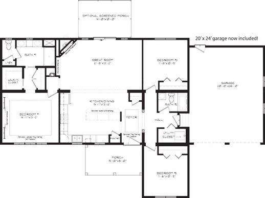 The Rose Cottage Floor Plan