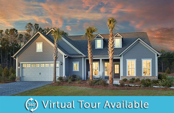 Sonoma Cove:The Sonoma Cove a one-story home with 2 car garage, full front porch and dormer windows, shown with