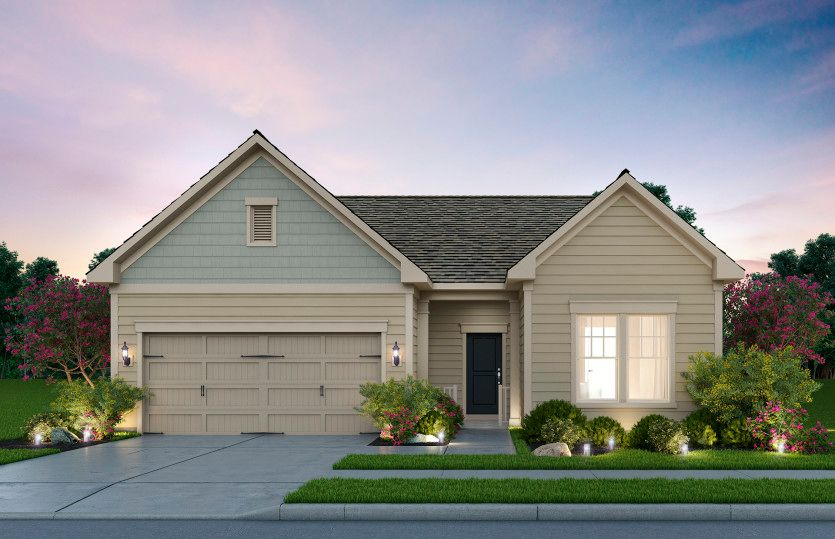Exterior:Abbeyville Exterior Rendering - Elevation 1 located at Carter's Mill.