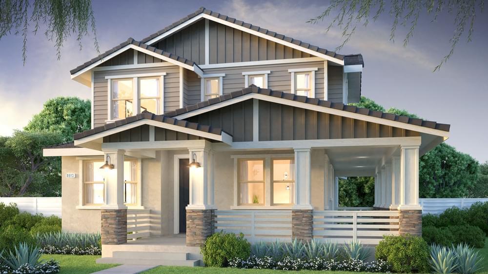 Exterior:Residence 5A - Craftsman Elevation