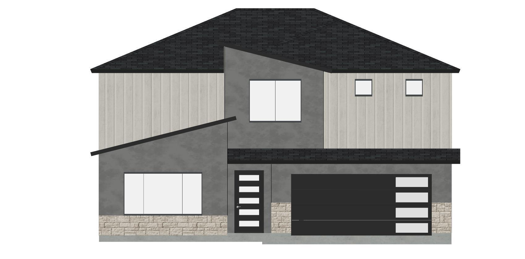 Front Elevation:2-Story Contemporary