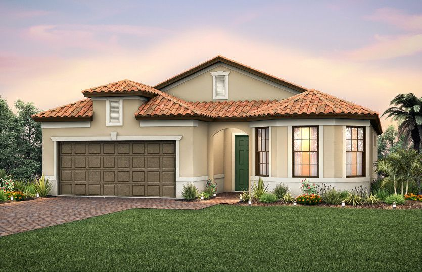 Exterior:Exterior FM2B with tile roof