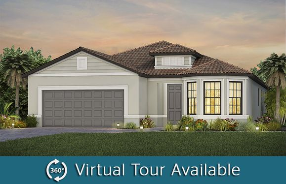 Mainstay:The Mainstay, a one-story single family home with a 2 car garage, shown as home exterior FM3